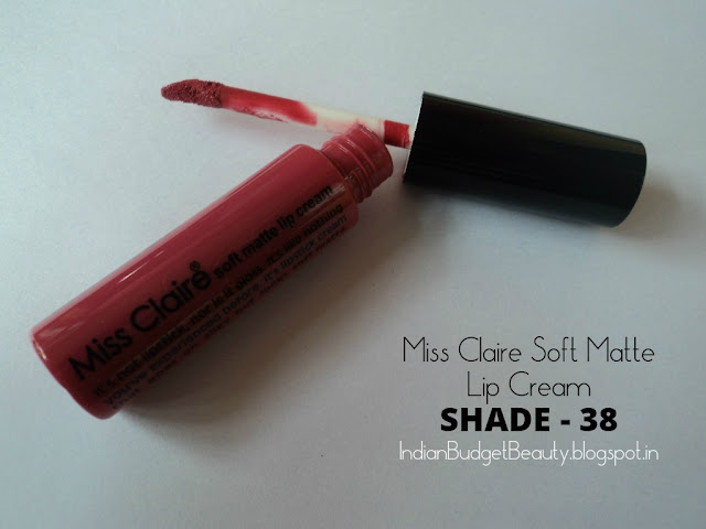Miss Claire Soft Matte Lip Cream  38 packaging