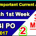 March 1st Week Current Affairs | Important 35 MCQs | PDF - 2