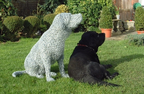 02-Black-Labrador-Dog-Barry-Sykes-Sculptures-of-Animals-in-Wire-www-designstack-co