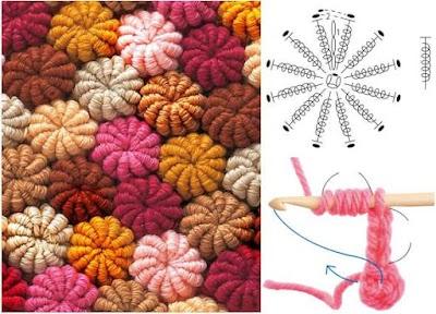 Cómo tejer flores espirales para asientos o cojines