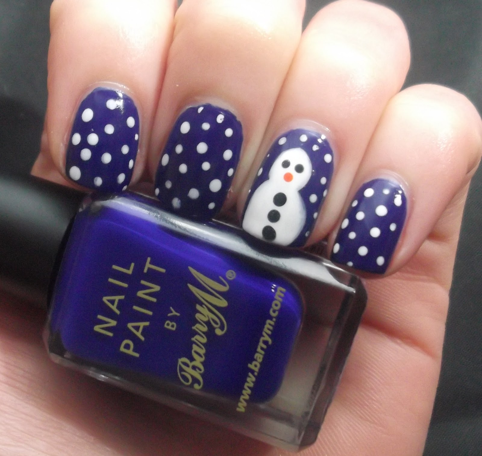 Snowman Nail Art: Lou Is Perfectly Polished: Christmas Nails: Snowman