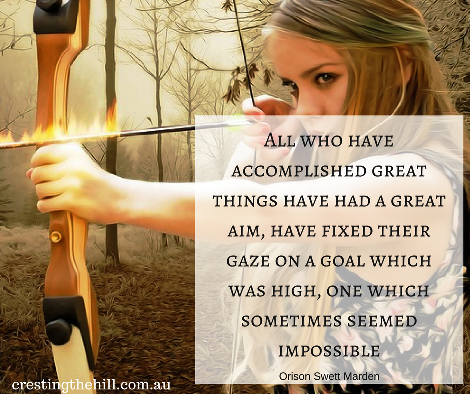 All who have accomplished great things have had a great aim, have fixed their gaze on a goal which was high, one which sometimes seemed impossible