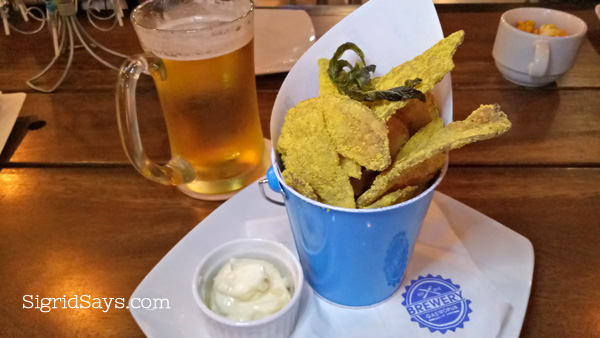 Brewery Gastropub Bacolod restaurant salted egg fries