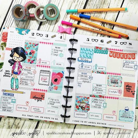 Planner Stamping: May 2 - 8, 2016 - The Greeting Farm Anya Nerds Out