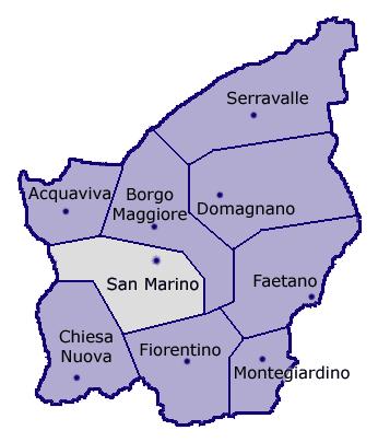cidades de San Marinoi
