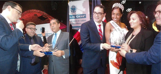 Espaillat, senadora Alcántara  y Miss New York 2018 reconocidos por consulado dominicano