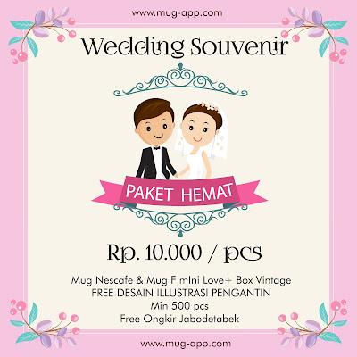 Paket Hemat Souvenir Wedding 10.000/pcs