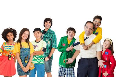 Na foto: Lila, Zu, Nuno, Eric, Pippo, Severino, Bento e Sol  Crédito:Divulgação/SBT