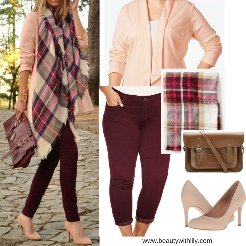 Burgundy & Blush Fall Outfit