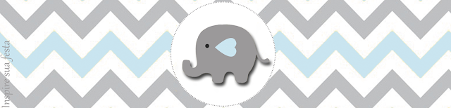 Elefante Beb 233 En Celeste Y Gris Invitaciones Y Etiquetas