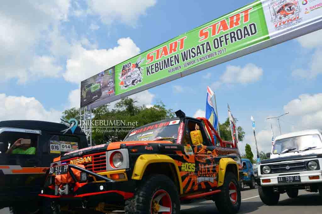205 Offroader Jelajahi Medan Ekstrim di Kebumen Utara