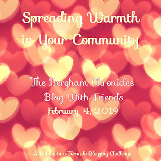 Blog With Friends, a multi-blogger project based post incorporating a theme, Snuggly and Warm | Spreading Warmth in Your Community by Jules of The Bergham Chronicles