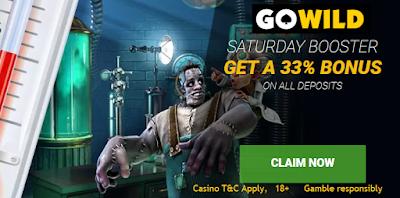 Saturday reload Bonus from Go Wild Casino