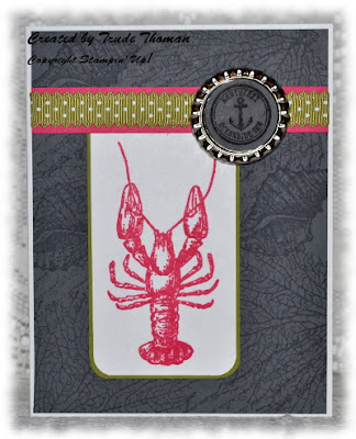By the Tide, Stamp with Trude, Stampin' Up!, greeting card, lobster