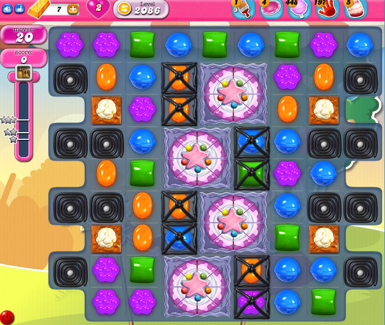 Candy Crush Saga level 2086
