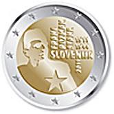 slovenia 2 euroa kolikko Franc Rozman 2011