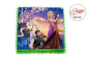 Lovely Tangled Photo Cake - 3Kg