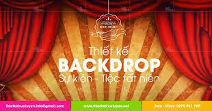 Chuyên nhận thiết kế backrop tiệc tất niên tại HCM