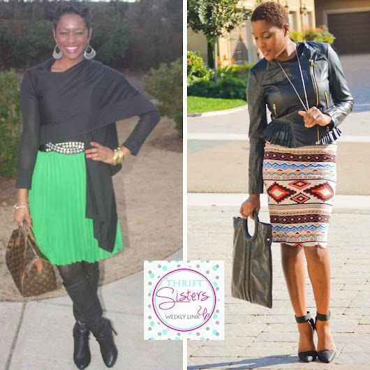 Two Stylish Kays: Thrift Sisters Link Up: Stylish Skirts