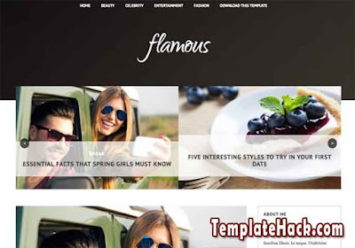 flamous blogger template