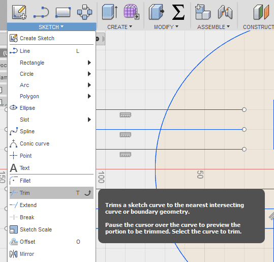 Tango of the Geeks: Trim Command - Fusion360 Quick Tip