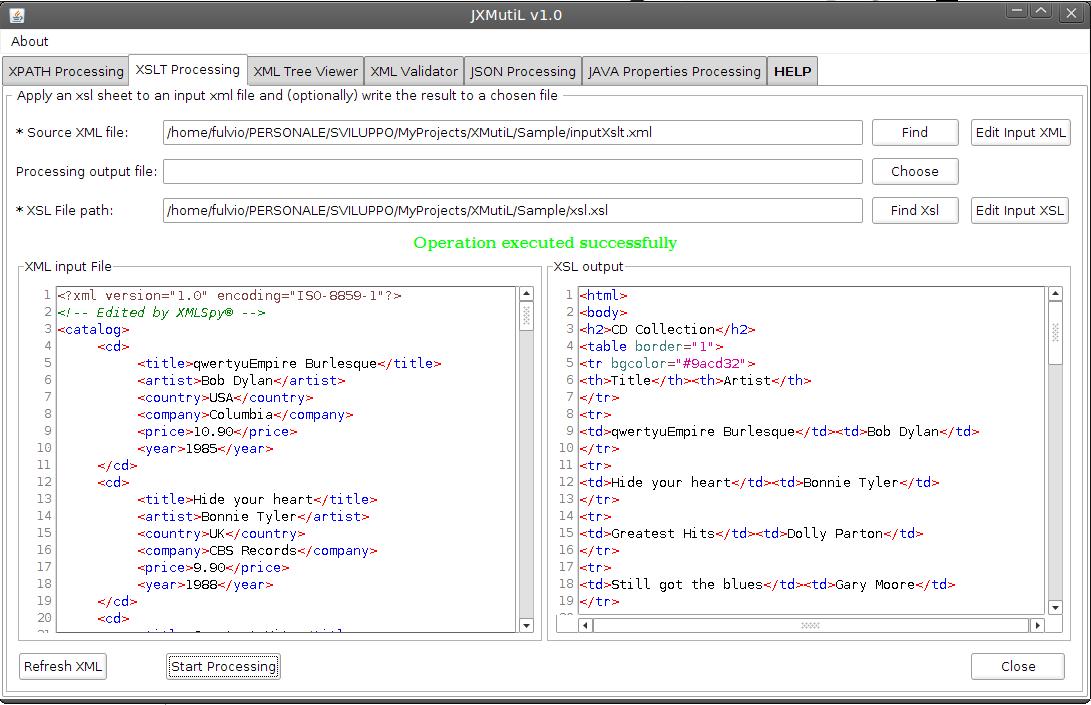 Validating xml against xsd using xslt in html
