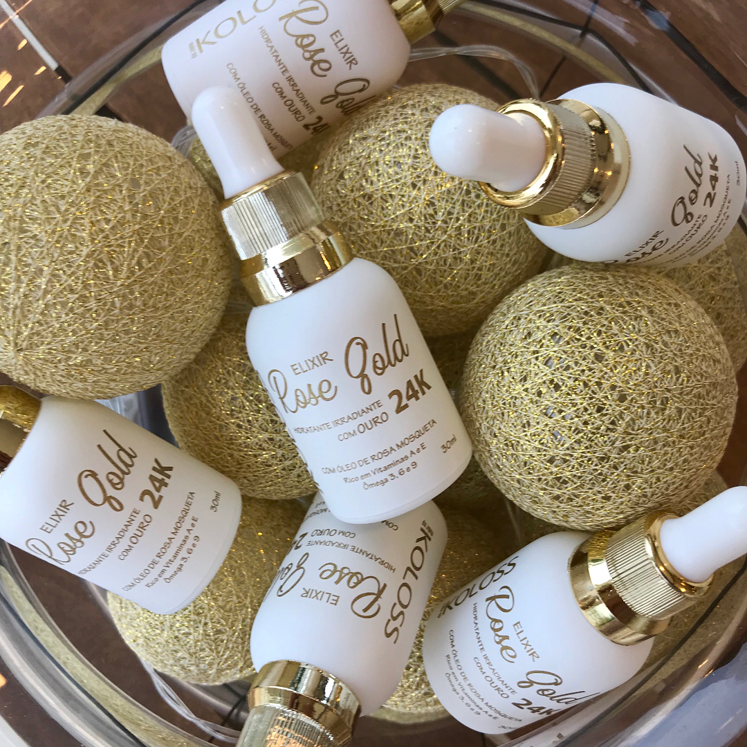 Koloss Elixir Rose Gold com OURO 24K