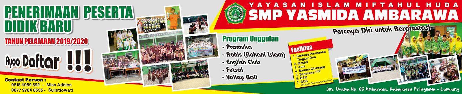 Desain Banner Spanduk Ppdb Smp Yasmida Ambarawa