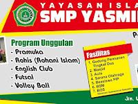 Desain Banner Spanduk PPDB SMP Yasmida Ambarawa 2019