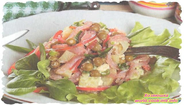 Картофельный салат с курицей (2 варианта)