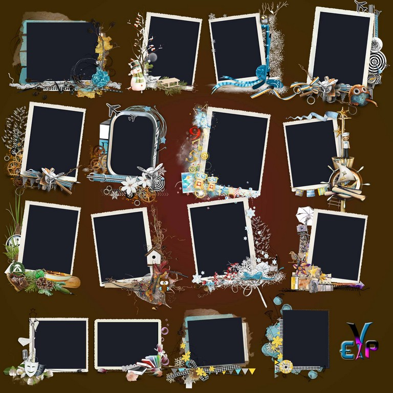 Multi design photo frames cutout png | Edit Your free pictures