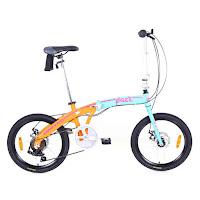 Sepeda Lipat United Pact Aloi 7 Speed Cakram 20 Inci