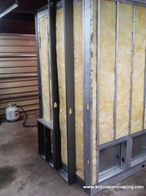 Powder coating oven insulation