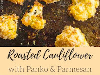 Oven Roasted Panko Parmesan Cauliflower