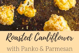Oven Roasted Panko Parmesan Cauliflower (Vegan) #roasted #panko #parmesan #cauliflower #vegan #appetizers #sidedish