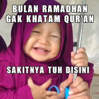 Foto lucu dan Gambar lucu DP BBM dan Meme Terbaru Jomblo Buka puasa menyambut ramadhan