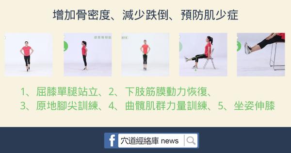 每天堅持練這5個動作,可增加骨密度、減少跌倒、預防肌少症(行走困難)