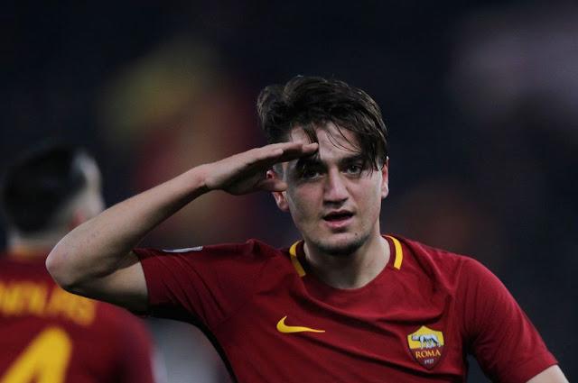 Selebrasi Gol Cengiz Under Roma
