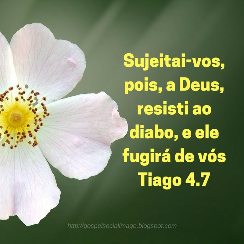 Imagens com frases de guerra espiritual - Tiago 4.7