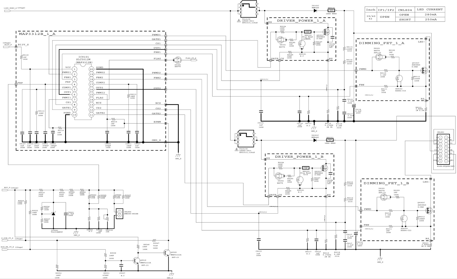 BN44 00645A - Samsung LE40R88BD - SMPS Schematic | Electro help