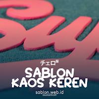 Contoh Model Desain Sablon Kaos Keren plus Jenis Pola dan Tinta Sablon