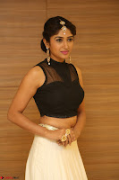 Roshni Prakash in a Sleeveless Crop Top and Long Cream Ethnic Skirt 101.JPG
