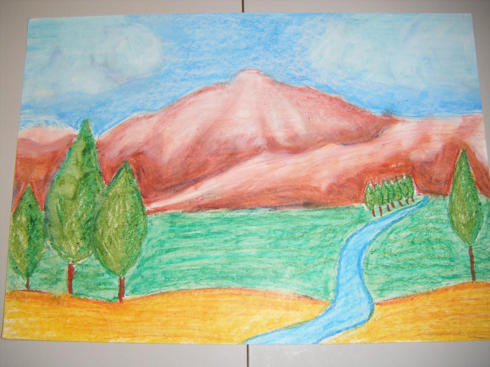 Paisajes Para Dibujar A Color Faciles: Mis Primeras Experiencias Con El Dibujo: Paisaje