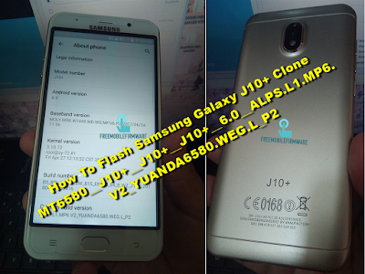 How To Flash Samsung Galaxy J10+ Clone MT6580
