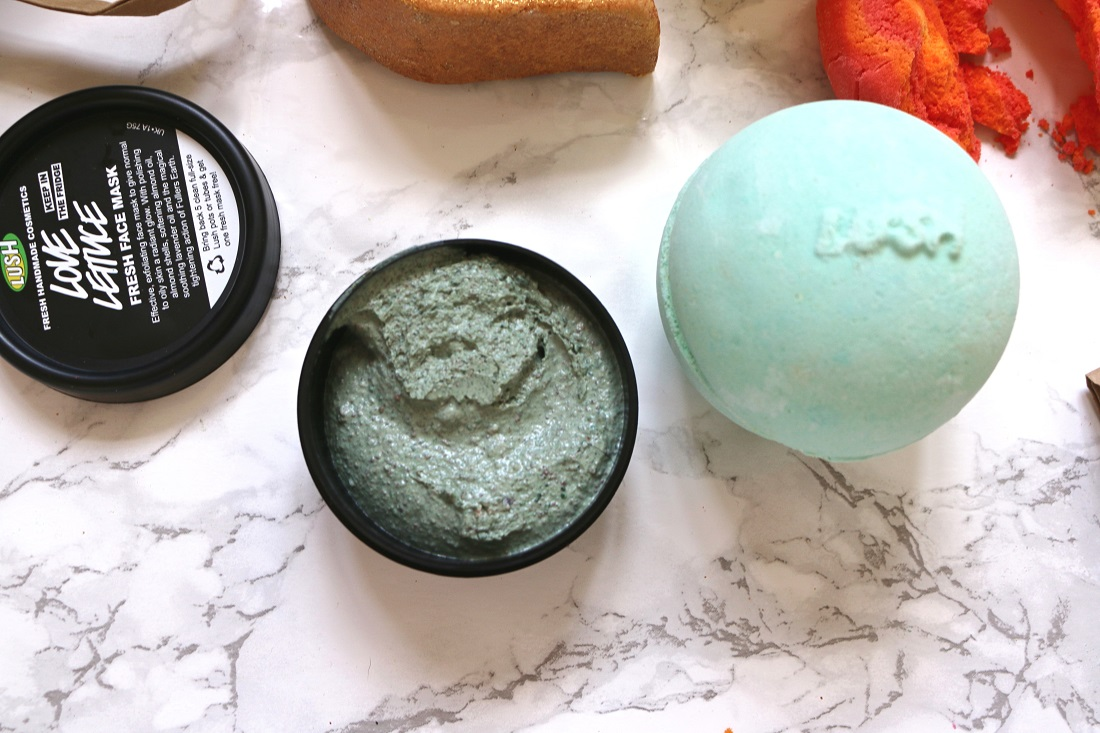 LUSH Haul Love Lettuce Fresh Face Mask and Avobath Bath Bomb