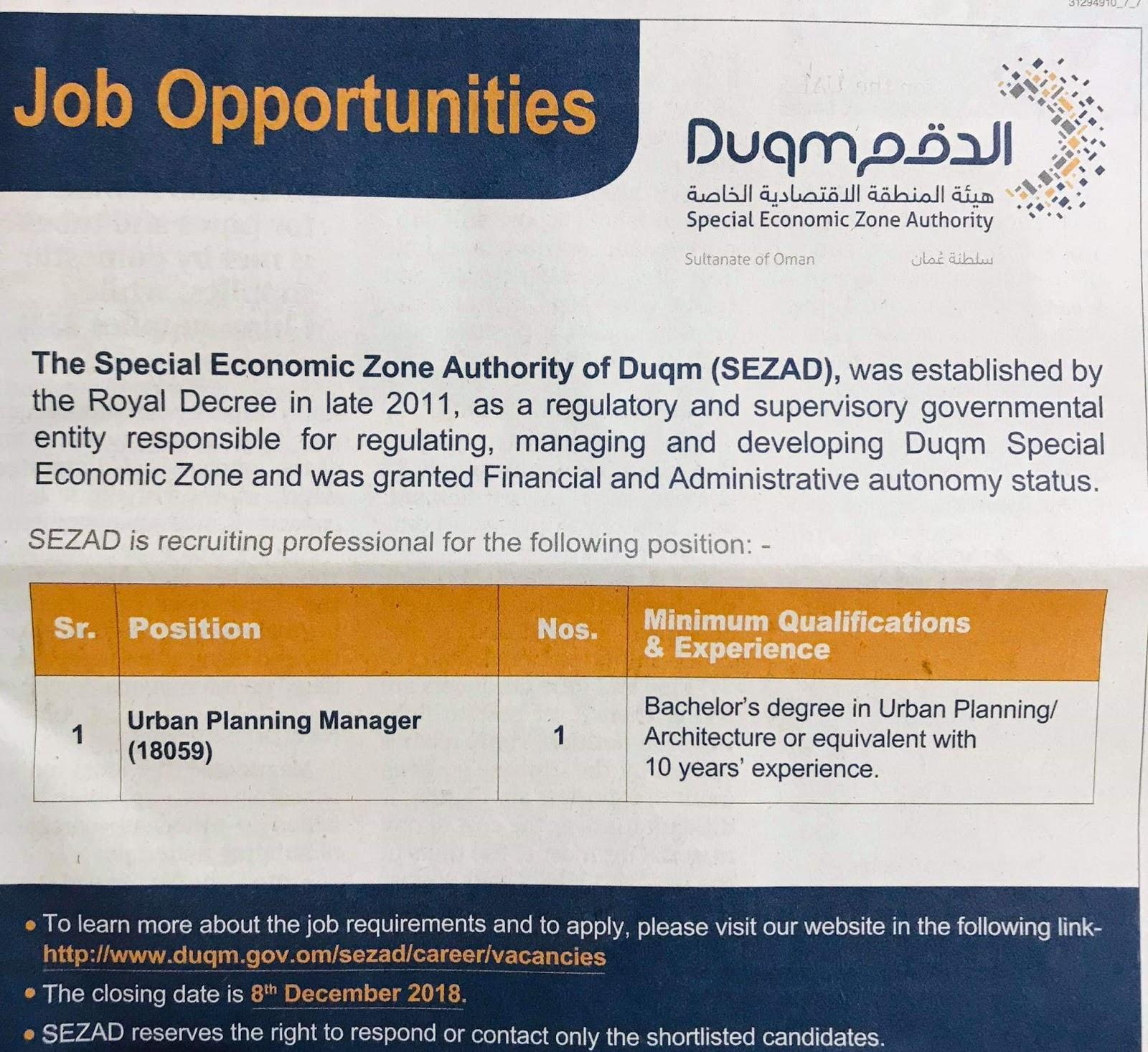 Al Duqm Required for UAE Local Hiring JOBS Khaleej Times