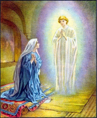 Image result for angel meets mary