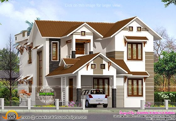 House plan rendering