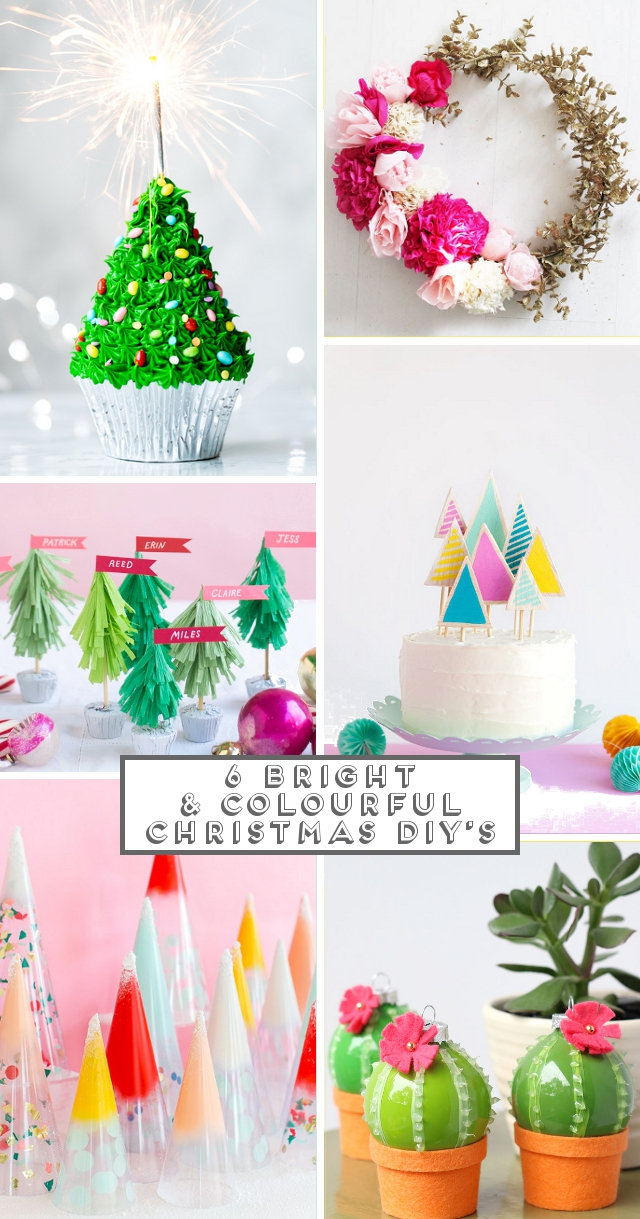 6 Bright & Colourful Christmas Diy's