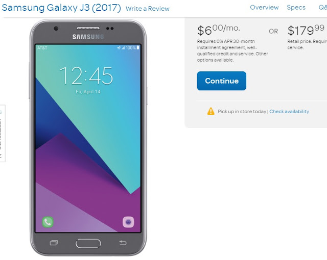 Samsung releases Galaxy J3 (2017) in USA via AT&T for $180